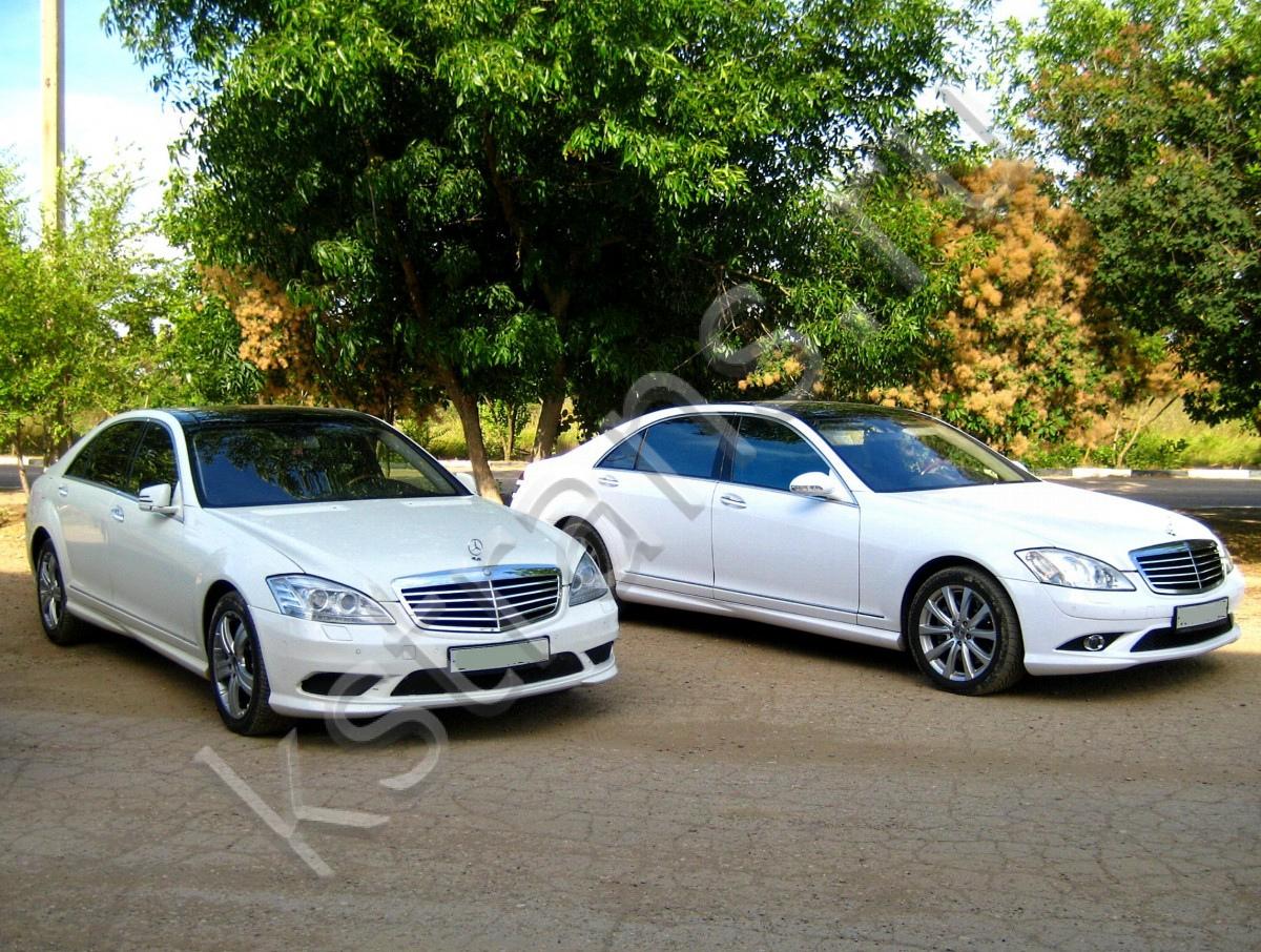 Авто на свадьбу - белый Мерседес w221