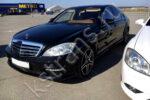 Авто свадьба - черный Мерседес w221
