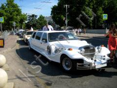 Лимузин в Севастополе - белый Экскалибур