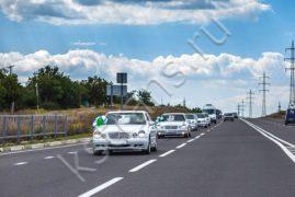 Свадебные авто белый Мерседес - картинка
