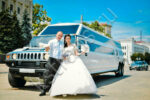 Белый лимузин Хаммер на свадьбу