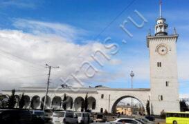 жд вокзал в Крыму - фотография